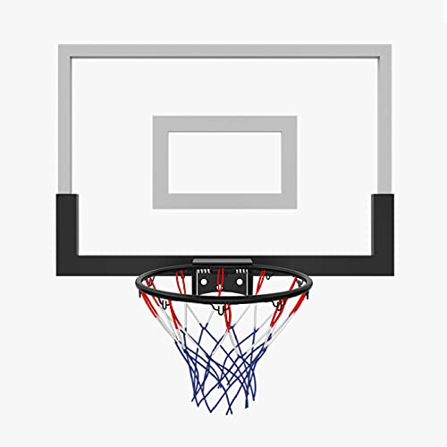 Canestro Basket Da Camera Da Muro,Cestino Di Metallo,Tabellone Hoop Per Canestro Bambino Mini,Rete Da Basket Sport Giocattoli,Contiene Accessori Come Pompe,Ganci,Divisori,Ecc,Nero