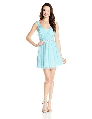 Speechless Junior's Surplus Short Prom Dress, Ice Blue, 5