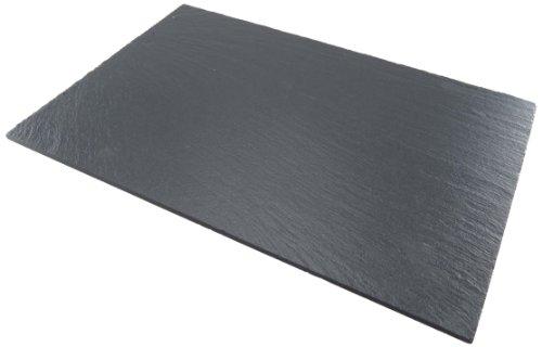 Lebrun 410225100104 Assiette Rectangulaire Ardoise 25 x 10 cm Lot de 4