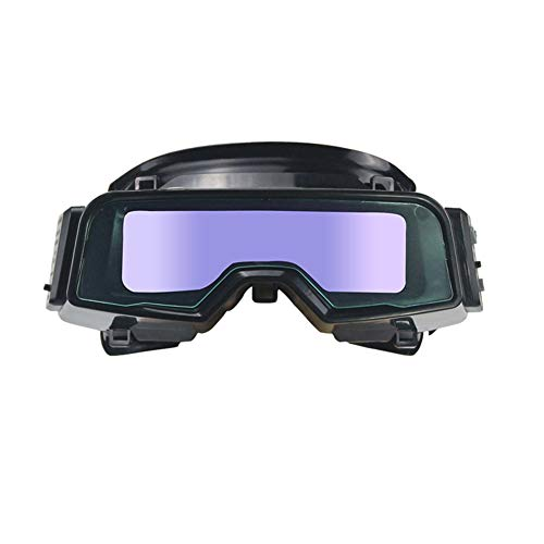 LZHJ Anti-Glare True Color Welding Goggles, Outside Control Solar Auto Darkening Welding Glasses, Plasma Weld Mask,Blindfold