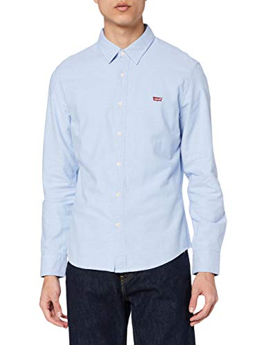 Levi's LS Battery Hm Shirt Slim Camisa, Blue (Allure 0005), X-Large para Hombre