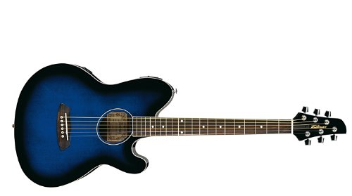 Ibanez 6 String Acoustic Guitar, Right Handed, Transparent Blue Sunburst (TCY10ETBS)