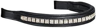 Dover Saddlery Crown Premier Dressage Browbands Blk/silver Square Horse-full Size