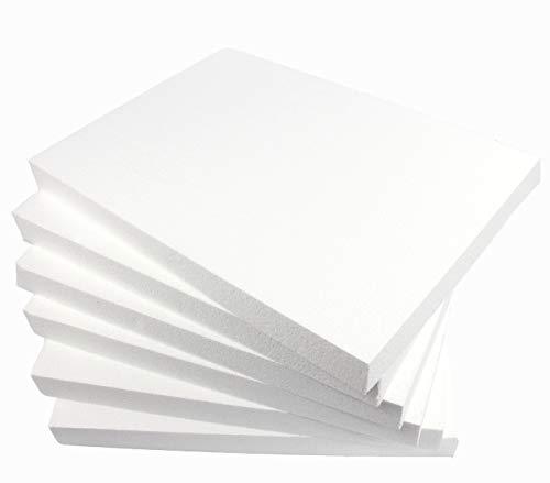 ZADAWERK® Styroporplatten - 30x42x4 cm - DIN A3-6 Stück - Isolierung - Wand