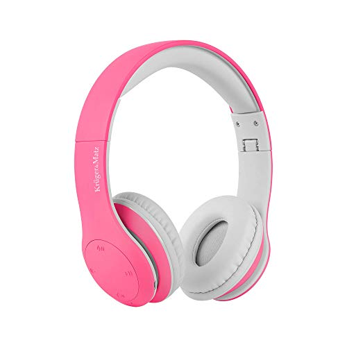 Krüger&Matz koptelefoon voor kinderen Street Kids, Bluetooth, roze