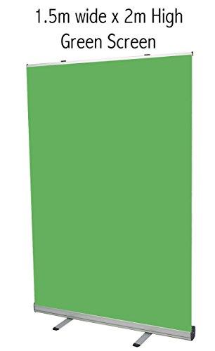 Chicbanners Banner-Ständer, freistehend, 1500 mm breit x 2000 mm tief, Grün