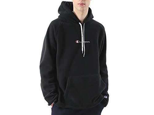 [チャンピオン] パーカー フーディー スウェット 裏起毛防風 スクリプトロゴ刺繍 フーデッドスウェットシャツ C3-N611 メンズ ブラック XL