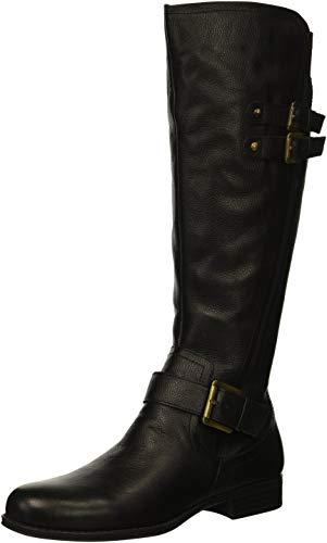 Naturalizer Womens Jessie Knee High Boot, Black, 8.5 W US