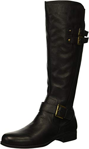 Naturalizer Women's Jessie Knee High Boot, Black, 8.5 W US