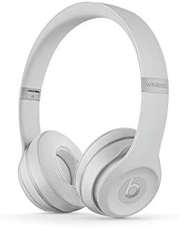 Beats Solo3 Wireless On-Ear Headphones Matte Silver – Beats by Dr Dre (Renewed)