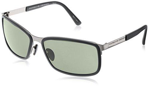 Porsche Design  P8552 Porsche Design Sonnenbrille Rechteckig  Sonnenbrille 62, Schwarz