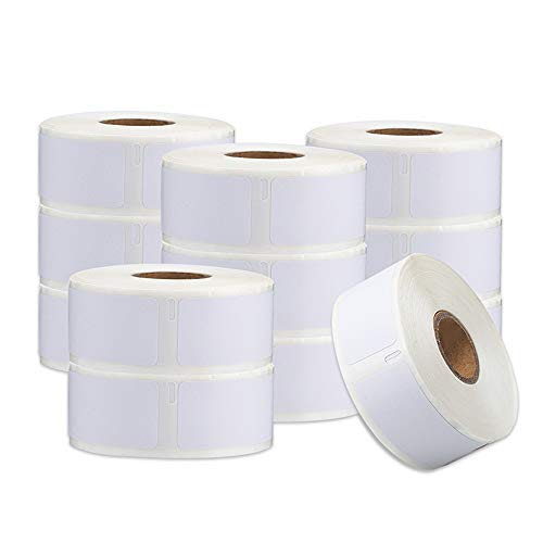 """PokeLabel Compatible for Dymo 30336 Small Multipurpose Labels,Work with Dymo 450 Turbo, 4XL, 400 and Any More, 1"""" x 2-1/8"""" (25mm x 54mm),500 Labels per Roll (12-Rolls),White"""