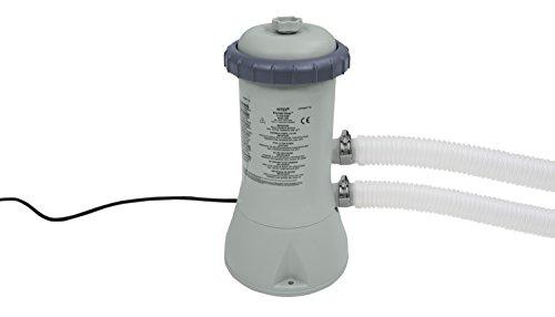Intex 900 GPH 28638GS Pompe de Filtration à Cartouche (12V) Gris 18,8x 19.4x 35,4cm