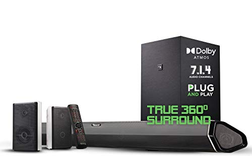 Nakamichi Shockwafe Elite 7.2Ch DTS:X 800W 45-Inch Sound Bar System with Dual 8' Subwoofers...