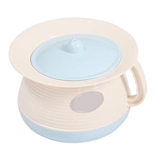 GUOJINE Seaux D'urine Féminins en Plastique, Adultes avec Couvercles, Pots À Urine, Pot De Chambre avec Couvercle Urinoirs Spittoon Child Girl Male Portable Pots De Chambre (Color : Blue)