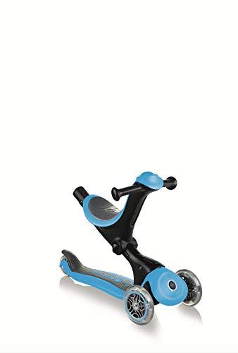 GLOBBER - Monopattino a 3 ruote, modello Go Up Deluxe Sky Blue