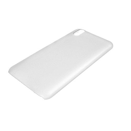 Crystal Edel Plastik Kunststoff Transparent Cover Schutzhülle für Ulefone Paris / Paris X Smartphone Tasche Hülle Etui Case (Clear Weiß)