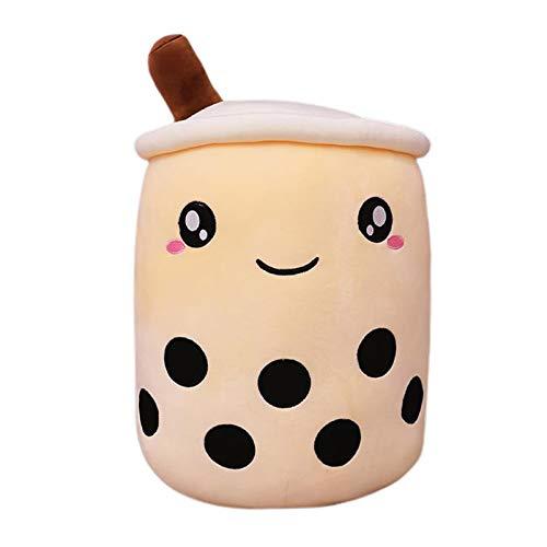 PETSOLA Cute Milk Tea Plush Stuffed Soft Toy Doll Hugging Pillow - B 35cm Milky