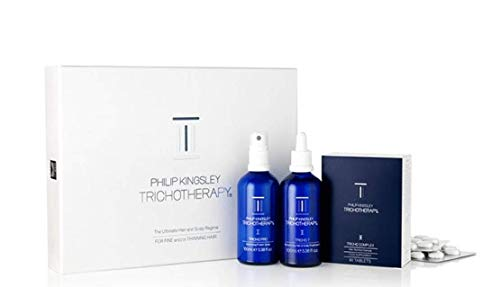 Philip Kingsley Trichotherapy Regime 3-Piece Kit for Fine/Thinning Hair (2 x 100ml, 90 Tablets),PHI622