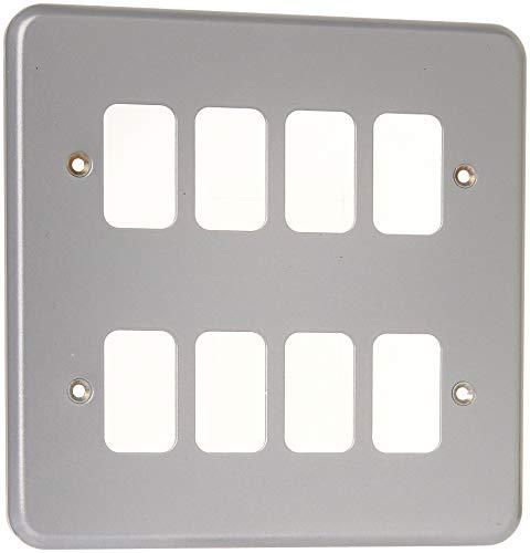 MK Electric Metalclad Plus Frontplatte mit 8 Modulen