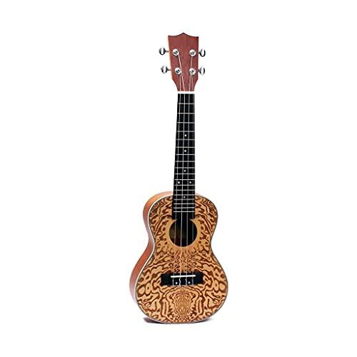 YUTRD ZCJUX Ukelele de 24 Pulgadas, Talla de Madera de Abeto, Ukelele Hawaiano, Guitarra pequeña, Instrumento de Clavijas de afinación de Tipo Cerrado