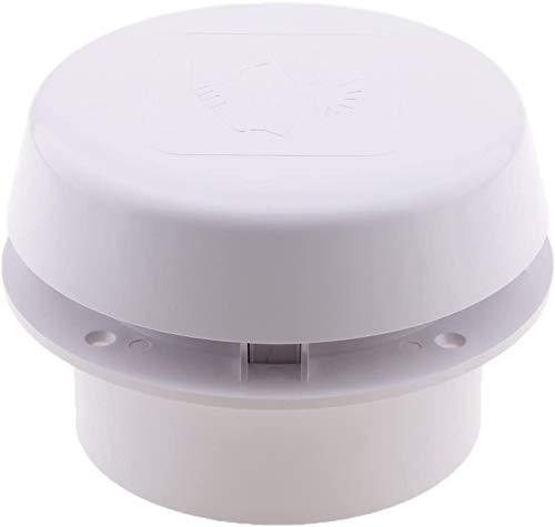 Namvo Ventilador de ventilación para techo de 12 V, resistente al agua, para caravanas Smoke Dome, color blanco