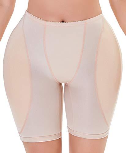 YINGKE Mujer Braguitas de Control Ropa Interior Levantador de glúteos Transpirable Conformación Moldeadora (XL, Nude)