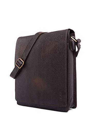 LEABAGS London Umhängetasche Schultertasche für 13 Zoll Tablets aus echtem Leder im Vintage Look, (LxBxH) ca. 26 x 8 x 31 cm - CooperBrown