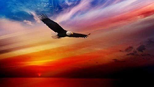 YHKTYV Águila Volando Bajo El Resplandor del Atardecer 120 Piezas Rompecabezas De Madera Educational Game Juego De Rompecabezas De Relajación Juguetes Intelectuales DIY para Elhogar Decoración