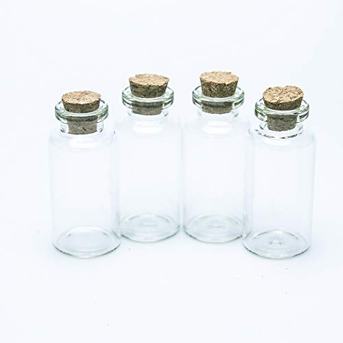 100pcs 20ml Mini Botella de Vidrio Linda con Corchos Pequeños Frascos de Vidrio Botellas de Regalo Fábrica Al por Mayor Deseos de Boda Tarro de Regalo Decorativo para Perfume de Arena Líquida