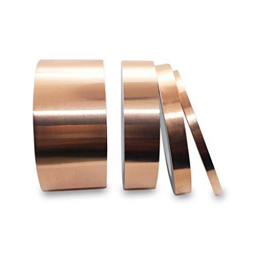 Rollos de cinta de cobre Deedma con lámina conductora y adhesivo: 4 paquetes de múltiples anchos de 2