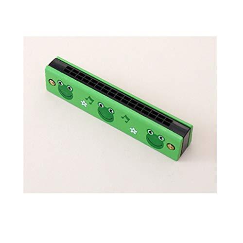 KMDSM Armónica, armónica principiantes 16 hoyos for niños, regalos de la música creativa, una variedad de colores distribuidos al azar (Size : 13 * 3 * 2.7cm, 颜色 Color : Green 1)