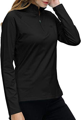 Long Sleeve Golf Polo Shirt Women Black Stand Up Collar Tennis Athletic Shirts Dry Fit Lady product image