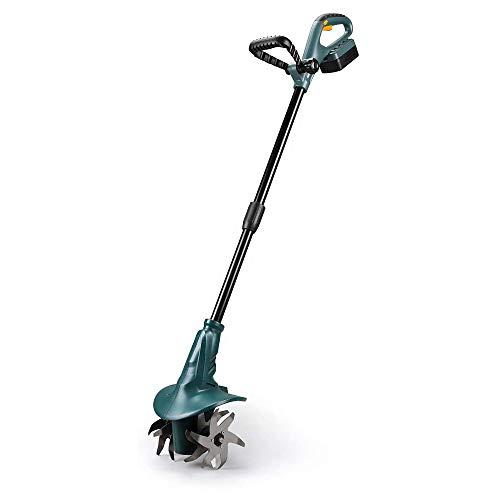 WAWZNN Cordless Portatile motozappa elettrica, zappatrice elettrica 18V, Coltivatori di Potenza per Giardini, orti, Serre, frutteti