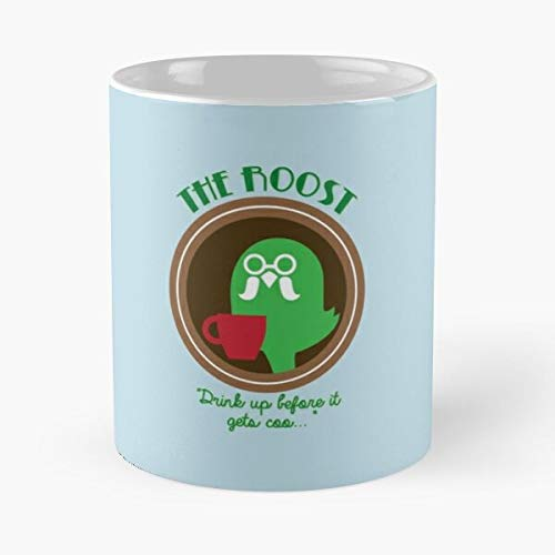 New Leaf The Roost Brewster Animal Wild Acnl Crossing World Best Taza de café de cerámica de 11 oz Personalizar