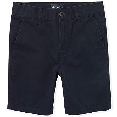 The Children's Place Boys Uniform Chino Shorts, New Navy, 10 Husky