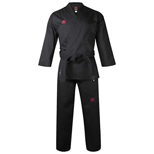 Mooto Corea Taekwondo bs4 Tipo Abierto Uniforme dobok Hapkido para Hombre 190 (180-190cm) (5.91-6.23ft) Negro