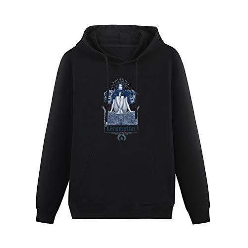 Mens Ergot LSD Blotter Art Albert Hofmann Hoodies Long Sleeve Pullover Loose Hoody Sweatershirt Black XL