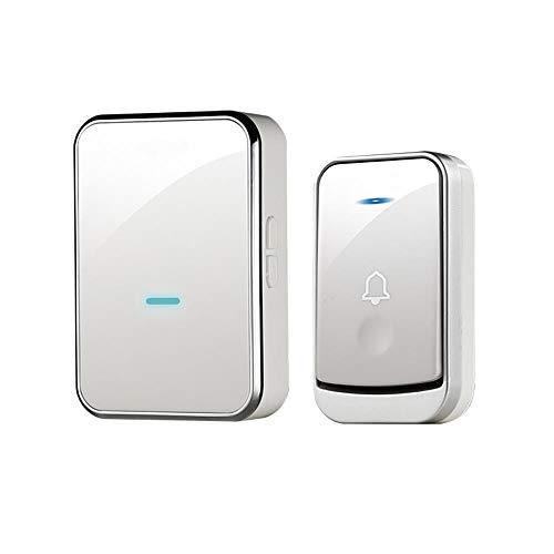 Draadloze deurbel, waterdichte deurbel, 45 belletjes optioneel, 4 volumeniveaus, instelbaar volume tot 110 m werking met geluid