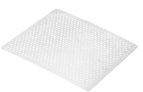 Steuber Premium Line - Plancha de acero inoxidable perforada (28 x 28 x 3 cm, repuesto para parrilla de aluminio para verduras, patatas y alimentos delicados)