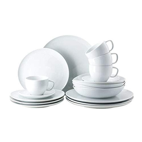 Rosenthal - Vajilla de porcelana Junto en color blanco (20 piezas)