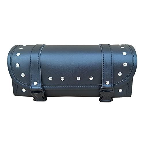 A/A enjoymentlin - Bolsa de equipaje delantera para motocicleta, piel sintética, color negro