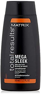 MATRIX Total Results Mega Sleek Conditioner | Controls Frizz Leaving Hair Smooth & Shiny | With Shea Butter | For Unruly Hair