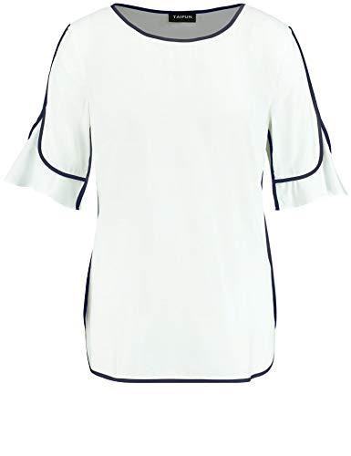 Taifun Damen 360055-11058 Bluse, Weiß (Off-White 99700), 38