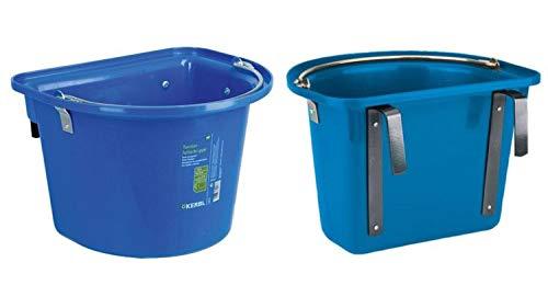 2 pezzi per trasporti presepe Blu 12 litri Cavalli trog pfer detraenke da appendere