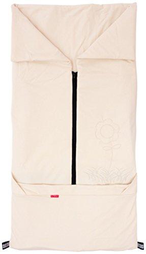 ByBoom- Sommer Fußsack 2in1; Leichter Universal Fußsack und Decke für Kinderwagen, Babyschale, Autokindersitz, z.B. für Maxi-Cosi, Römer, Buggy, Babybett; BEIGE