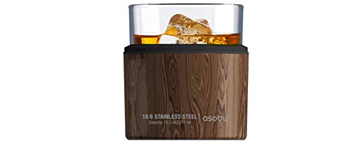 Asobu Insulated Whiskey Glass and Stainless Steel Sleeve (Wood)