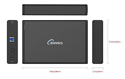 Sonnics - Disco Duro Externo de sobremesa USB 3.0 de Alta Velocidad para Xbox One & PS4 Negro 2 TB miniatura