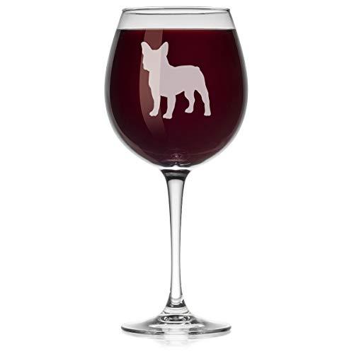 Wine Glass Frenchie French Bulldog (Large Stemmed, 20oz)