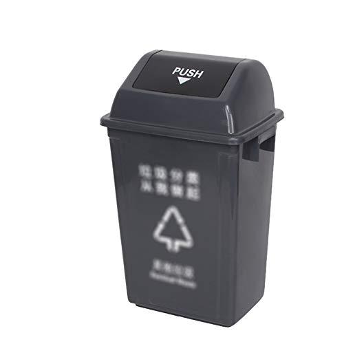 Outdoor trash can Chang-S-Q-123 Hoteles De Reciclaje De Basura, Basura De Plástico Gris 60 / 100l Rectangular Dustbin Home Kitchen Office Warkasket Basura Basura(Size:60L,Color:Gris)